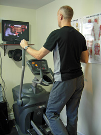 Exercising in front of a TV